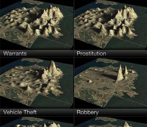 Topographical Crime Maps