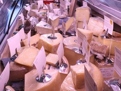 Cheeses at Antonelli's Cheese Shop