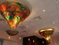 Ceiling lights inside Mi Cocina