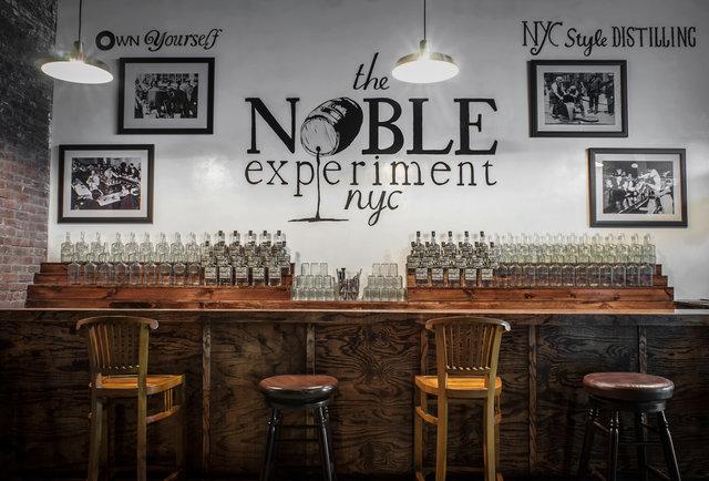 A distillery and tasting room in Brooklyn