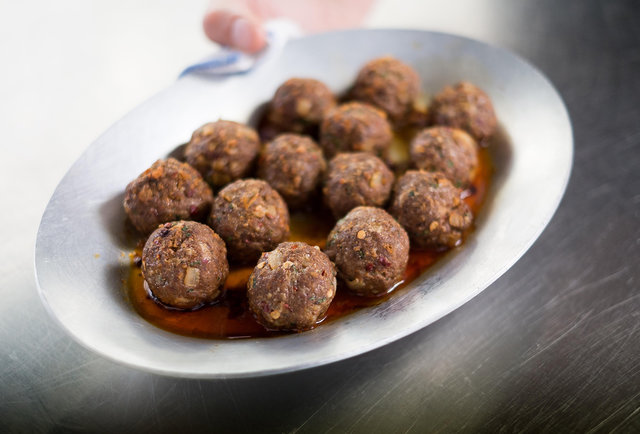 With the help of the FUJIFILM X-E1 Digital Camera, we capture the creation of L\'Apicio\'s famous pork spheres