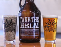 Growlers at Helm's Brewing Co in San Diego