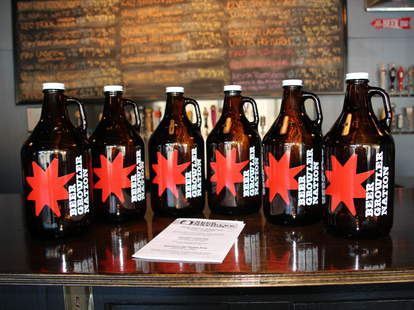 Growlers at Beer Growler Nation in Decatur