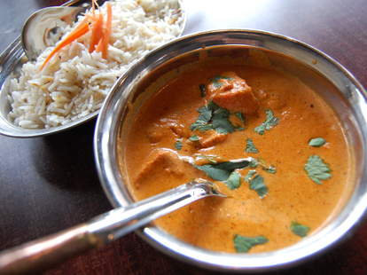 Curry dish at Bombay Bistro in Seattle
