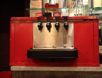 A vintage Coke soda fountain