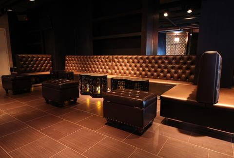 Luxurious, couch seating at Prohibit.