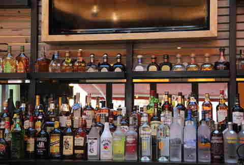 The bar featuring various tequila varieties