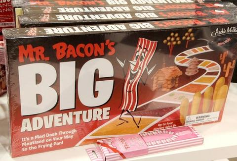 "A board game box named ""Mr. Bacon's Big Adventure"""