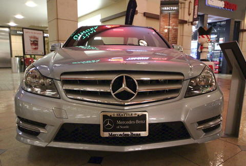 Mercedes Benz at Pacific Place Mall in Seattle