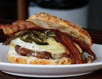 Cowboy Killer: maple fennel sausage, fried egg, rajas & bacon
