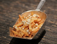 Feta and oregano fries