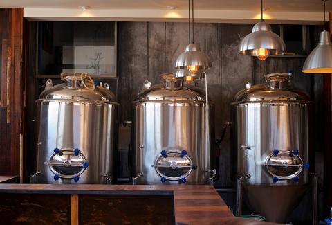 Brewing equipment at Thorn St Brewery