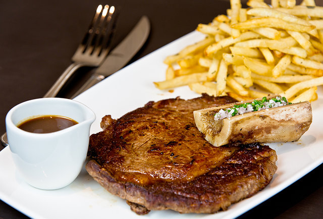Downtown\'s massive French bistro
