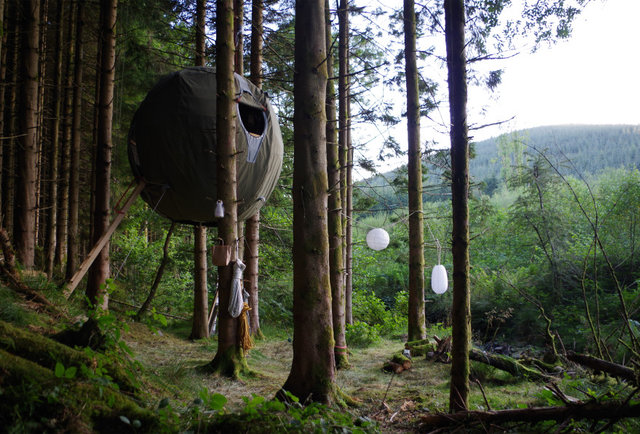 The spherical treehouse of your dreams