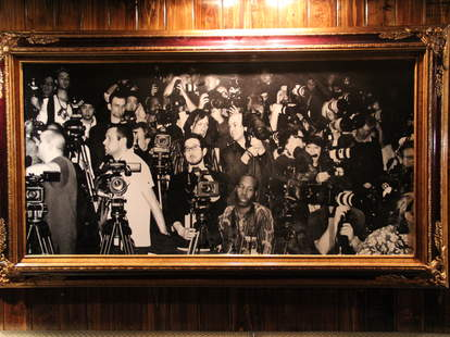 A black and white photo hanging in Rosewood