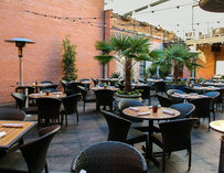 Outdoor seating at Meso Maya Downtown
