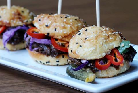 Burger sliders.