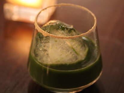 A sake cocktail