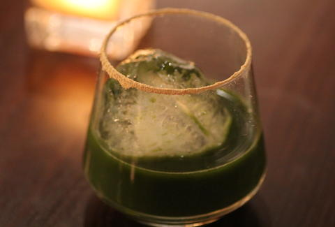 A sake cocktail