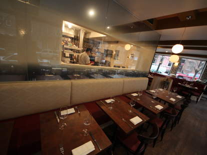 The open kitchen at The Marrow