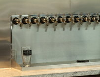 Beer taps at Brothers Provisions in San Diego