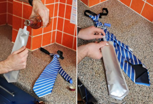 A necktie you can nip from