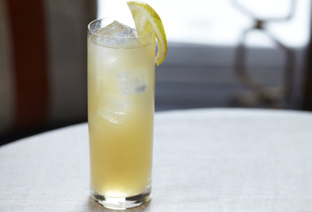 A sweet, fizzy maple-flavored cocktail