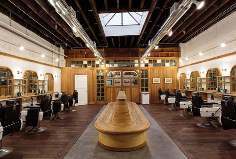 The interior of the barber shop