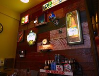 Collection of beer signs at Beer