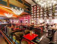 Interior of Gordon Ramsay Pub & Grill