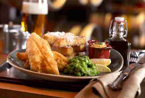 Fish and chips at Gordon Ramsay Pub & Grill