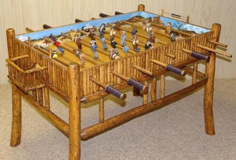 Old West Foosball Tables Own Thrillist - Foosball table houston