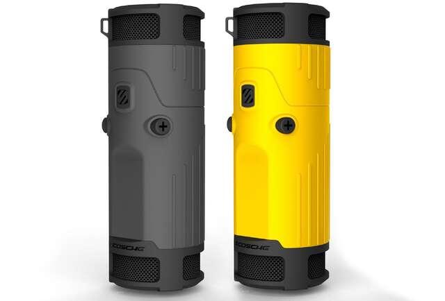 A weatherproofed wireless speaker for your bike