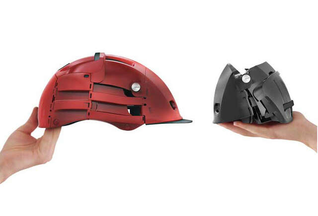 A shockingly portable helmet that folds in on itself