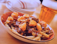 Montreal-style poutine with braised short ribs
