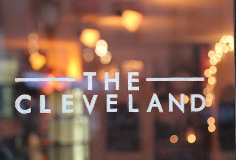 The front sign at The Cleveland