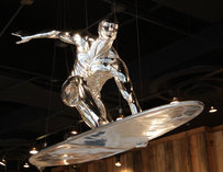 Silver surfer decoration at Big Kahuna in Atlanta