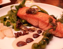 Salmon at Heat Bar & Kitchen in San Diego