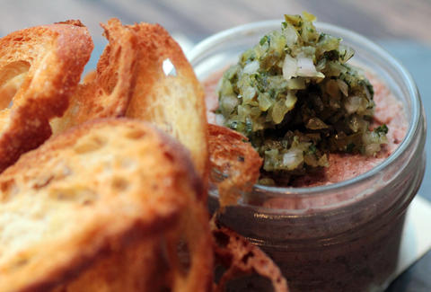 Potted pork w/ toast.