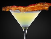 Bacon martini at VDKA in Las Vegas