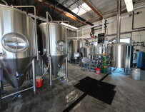 Vats at Rip Current Brewing in San Diego