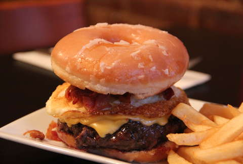 Donut burger at Burger Bistro