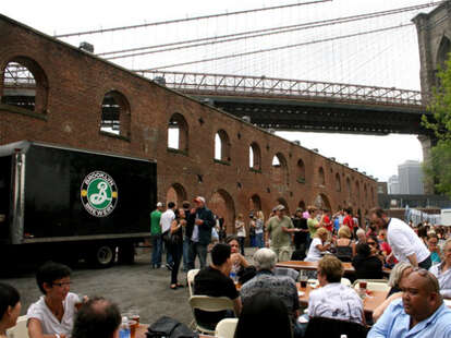 BK brewery's outdoor lounge area