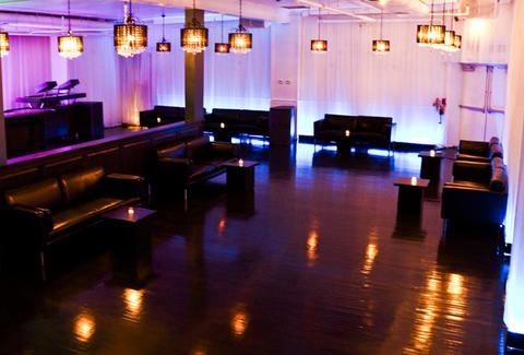 The nightclub interior