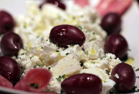 Feta and kalamata olives