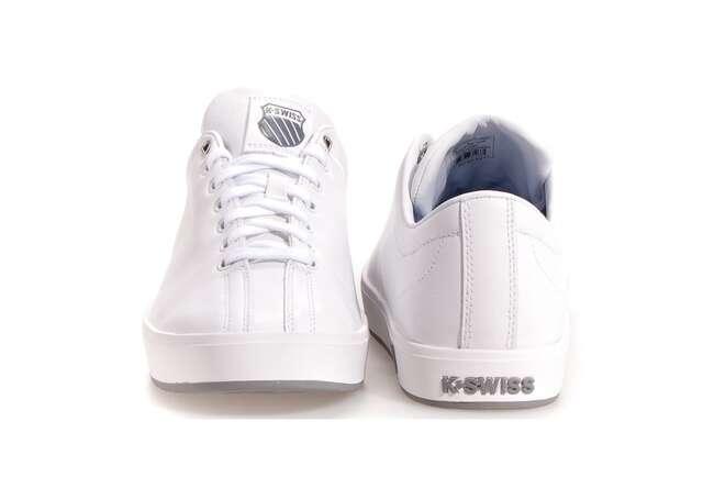 The timeless white tennis shoe