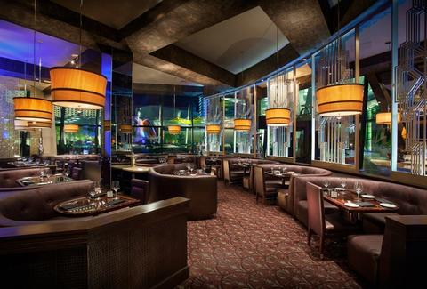 Interior of SHe by Morton's steakhouse in Las Vegas