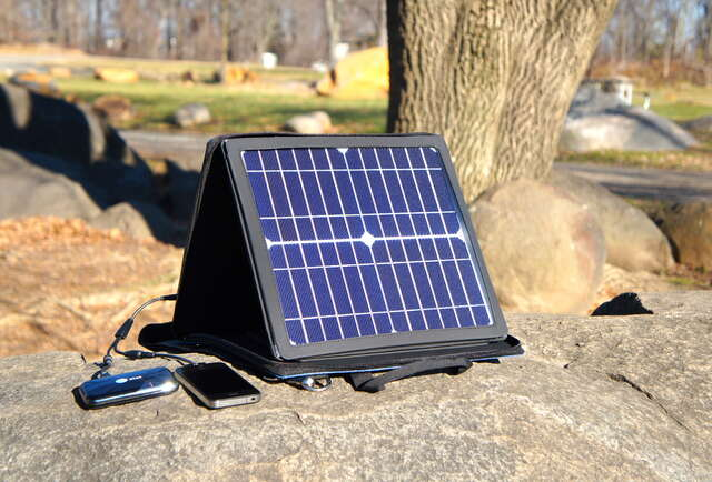 Charge your iPhone on the go with the power of the Sun