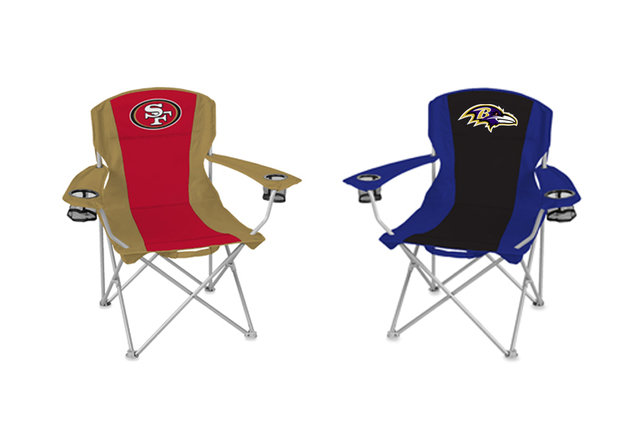 Show your love for your favorite team with these folding chairs