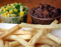 French fries and baked beans